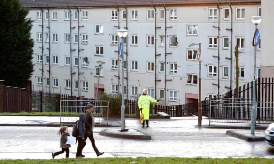 A housing estate in Cranhill, Glasgow