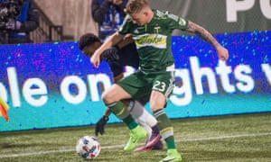 Jack Barmby in action for the Portland Timbers