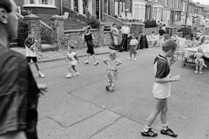 Abertillery. VJ Street party. 1995