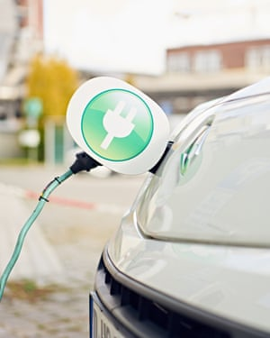 Henkel van connected to the electric charging station; Düsseldorf; Henkel; production site