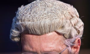 A barrister in a wig