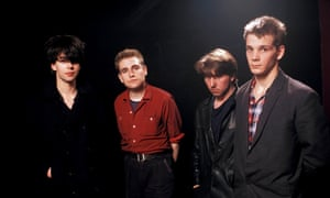 Echo and the Bunnymen, one of Mick Houghton's charges, featuring Ian McCulloch, far left, in 1981.