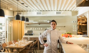 A chef in an empty restaurant
