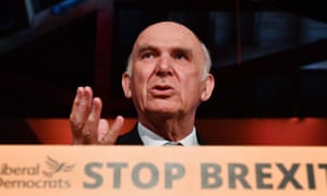 Liberal Democratic leader Vince Cable.
