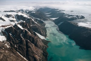Photograph taken near the Sukkertoppen ice cap of south-west Greenland