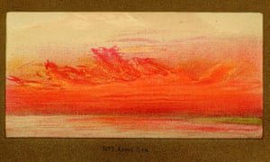 One of William Ascroft's watercolours of vivid sunsets seen from Chelsea, London, in autumn 1883 after Krakatoa erupted.