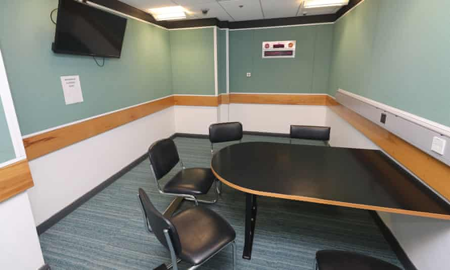 A police interview room