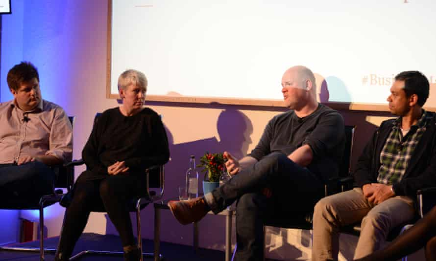 Steven Drost (centre) and panellists at the Guardian's Business Made Simple event supported by Vodafone.