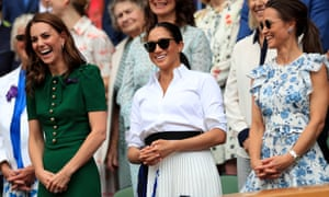 The Duchess of Cambridge, the Duchess of Sussex and Pippa Middleton watched the final from the Royal box