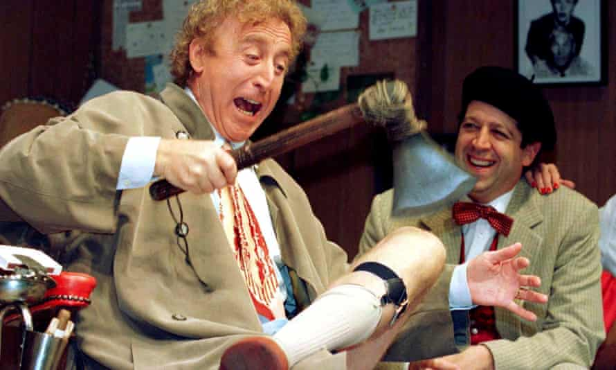 Gene Wilder, left, with Rolf Saxon in rehearsal of a scene from Neil Simon's Laughter on the 23rd Floor, in New York, 1996.