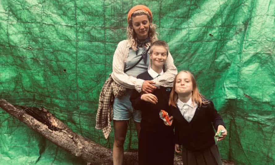 Film-maker Joya, Eve and her sister Verity