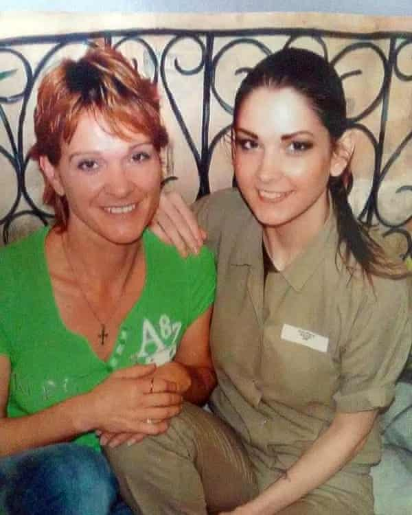 Breanne McUlty, a former addict and heroin dealer who went to prison, pictured with her mother during a prison visit.