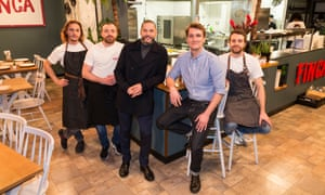 Fred Sirieix, third from left, and Finca.