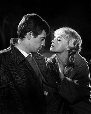 Seven Days ... Seven Nights (Moderato Cantabile), 1960 Belmondo as Chauvin and Jeanne Moreau as Anne Desbarèdes, in this adaptation of a book by Marguerite Duras, directed by Peter Brook.