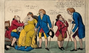 Time the Best Doctor, caricature by Isaac Cruikshank, 1803