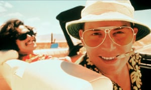 Dr Gonzo (left) in Fear and Loathing in Las Vegas. Portrayed by actor Benicio del Toro, the character was based on the real life attorney Oscar Zeta Acosta.