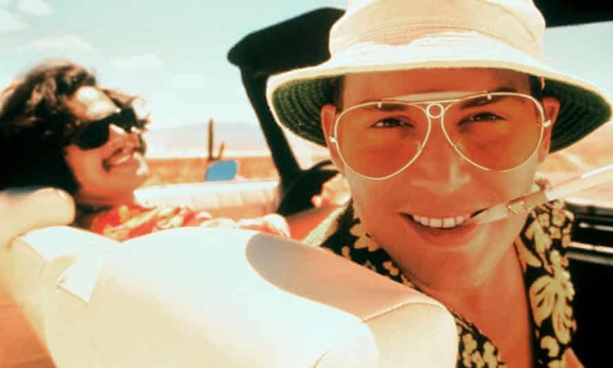 Indulging in dangerous behaviour so we don't have to … Benicio del Toro and Johnny Depp in the film of Fear and Loathing in Las Vegas (1998).