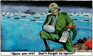 Steve Bell's cartoon about the D-day landings.