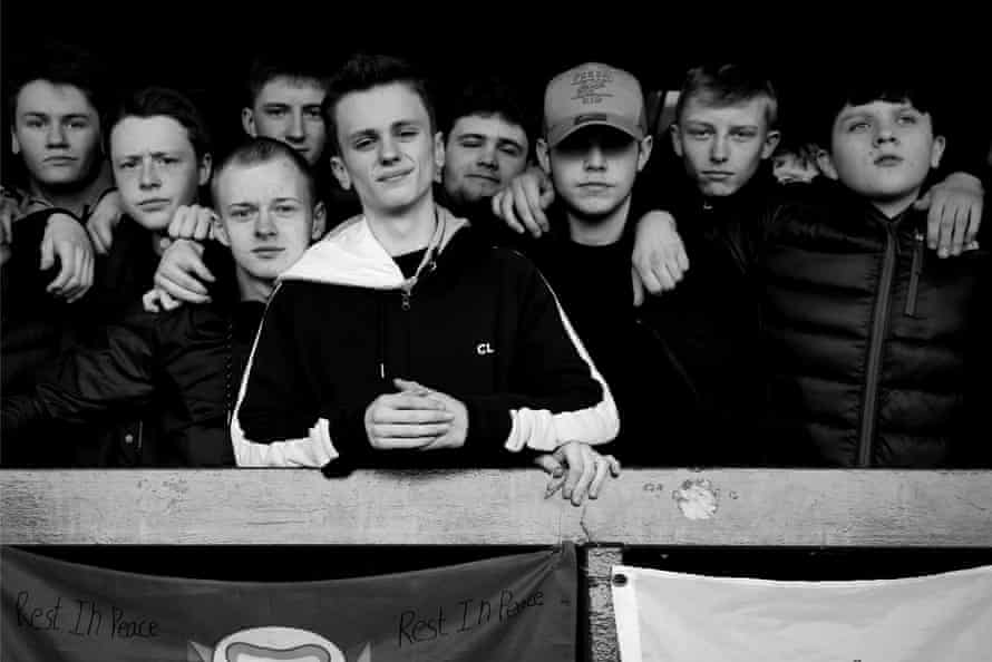Youngsters at the ground