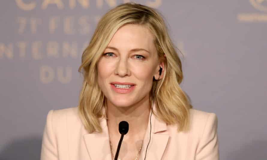 Jury president Cate Blanchett attends a press conference at Cannes 2018
