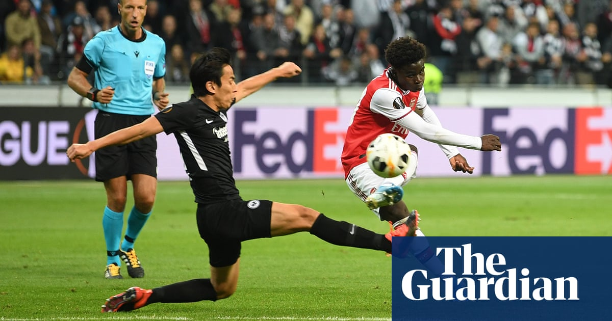 Bukayo Saka inspires Arsenal to thrilling win at Eintracht Frankfurt