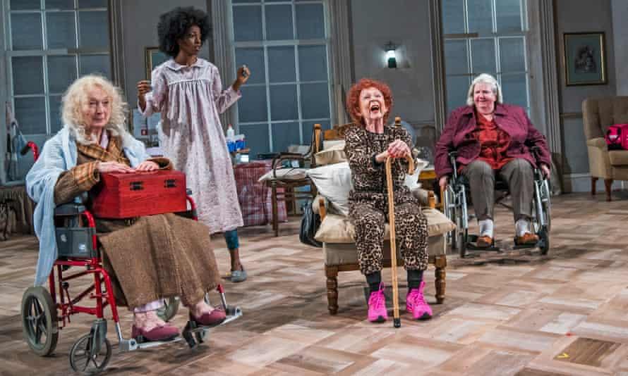 Easy laughs … Amanda Walker (St Michael), Keziah Joseph (Hope), Sheila Reid (Gloria) and Maggie McCarthy (May).