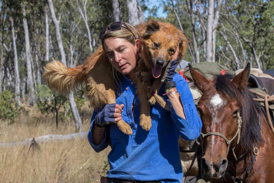 Alienor Le Gouvello on her journey along the Bicentennial Trail through the Australian bush for 5330kms with her three horses.
