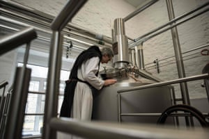 The state-of-the-art machinery, custom-made in Germany, can produce around 6,000 bottles with each weekly brew.