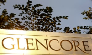 Glencore logo at its head office