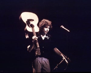Bob Dylan on stage in 1979.