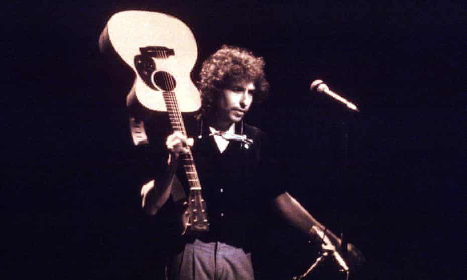 'He will live longest and most powerfully in the memory as a lone figure in the spotlight with an acoustic guitar' ... Bob Dylan in 1979.