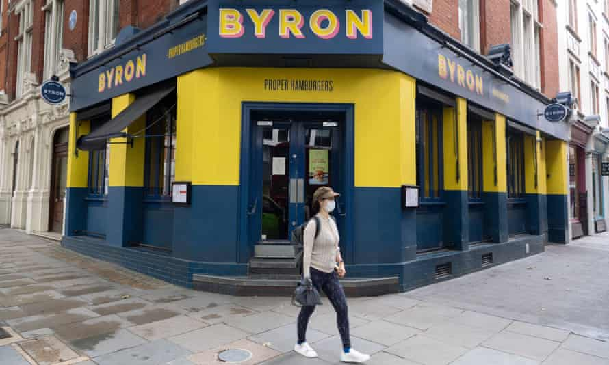 A closed Byron burger restaurant in London's Charing Cross Road