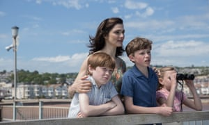 Wait and sea … Clare Crowhurst (played by Rachel Weisz), and family wait anxiously for news in The Mercy
