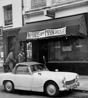 The Mangrove restaurant in Notting Hill, London, the day after the protest march.