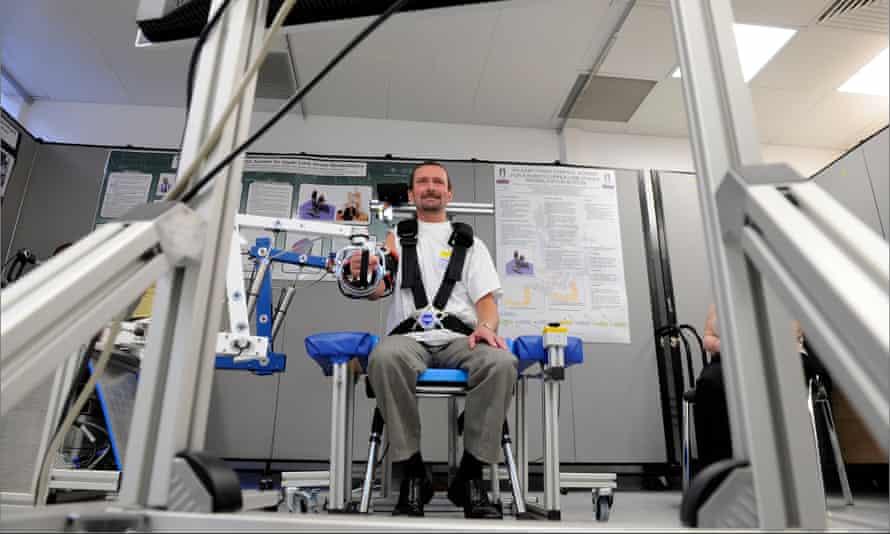 A hospital robot