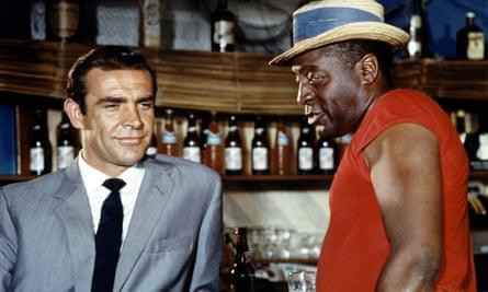 Sean Connery as James Bond with John Kittzmiller as Quarrel.