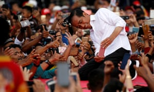Incumbent Joko Widodo has beaten opposition candidate General Prabowo Subianto in the presidential election.