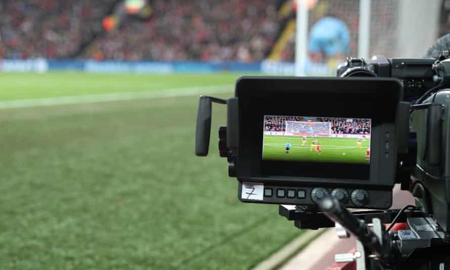 TV cameras at football