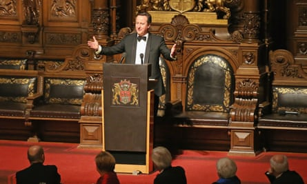 David Cameron sin Hamburg