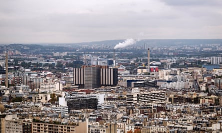 A view of Paris's eastern suburbs.