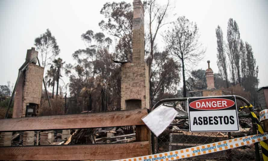 A burnt-out property in Cobargo, NSW, after bushfires swept through in January 2020