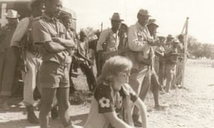 Diana Mitchell with Zimbabwe People's Revolutionary Army guerrillas