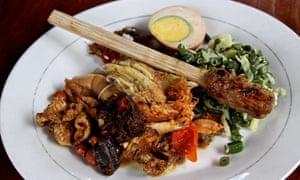Chicken at Nasi Ayam Kedewatan Ibu Mangku