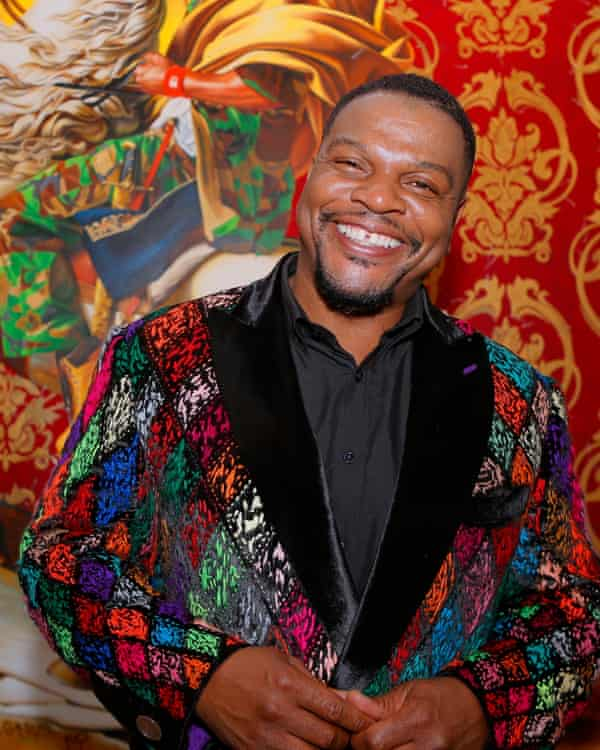 Kehinde Wiley at the opening of his Wiley Meets David exhibition at Malmaison Castle, Paris, October 2019.
