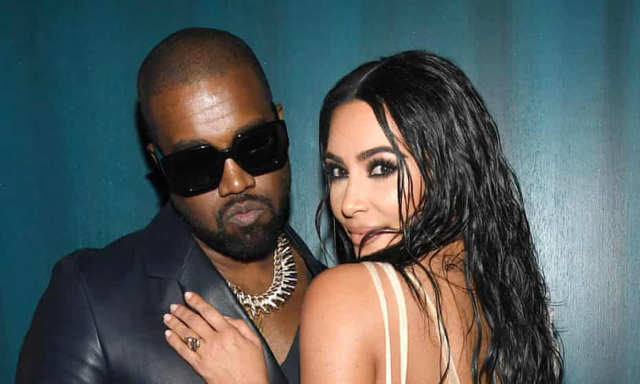 Kanye West and Kim Kardashian West pictured in Beverly Hills, February 2020.