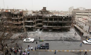 The site of the car bomb attack by Islamic State at Karrada, Baghdad, on 2 July.
