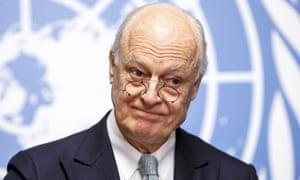 The UN special envoy for Syria Staffan de Mistura