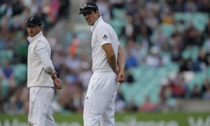 Alastair Cook and Ian Bell look on as Australia pile on the runs.