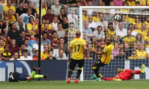 Alexis Sánchez's mishit effort squeezes over the line to give Arsenal a two-goal cushion.