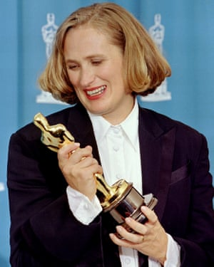 Jane Campion winning an Oscar for best original screenplay for The Piano.